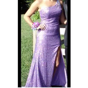 Purple sequin prom/formal dress
